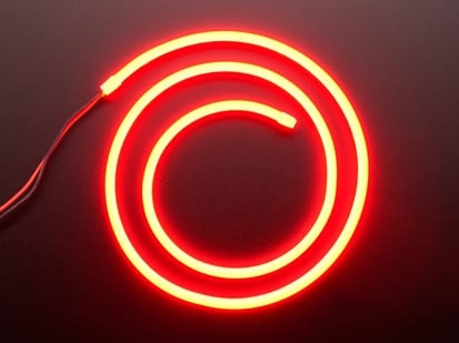 Coil of neon-looking red light