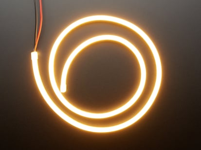 Coil of neon-looking warm white light