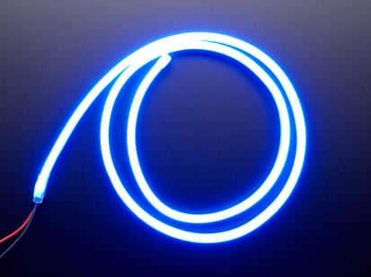 Coil of neon-looking blue light