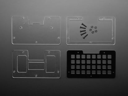 NeoTrellis M4 Acrylic Enclosure Kit with plastic pieces