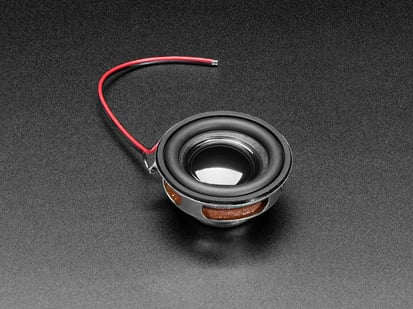 Round Speaker 40mm Diameter with wires