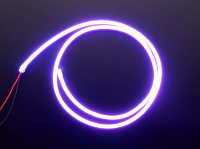 Coil of neon-looking purple light