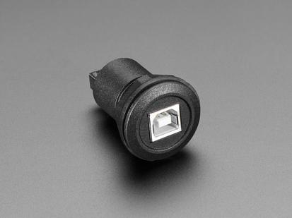 USB Round Panel Mount Plug showing front port