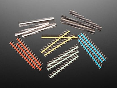 Break-away 0.1 inch 36-pin strip male headers in Various Color plastic