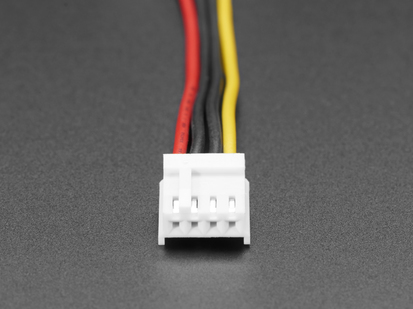 Close up of 4 pin connector
