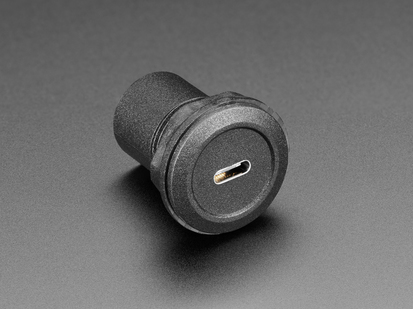 USB C Jack to USB C Jack Round Panel Mount Adapter