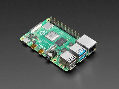 Angled shot of Raspberry Pi 4
