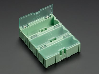 3 pack of small Modular Snap Boxes for SMD component storage