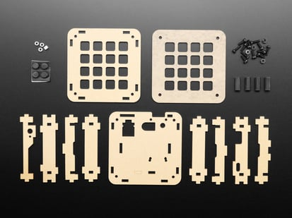 Adafruit 4x4 Trellis Feather Acrylic Enclosure + Hardware Kit