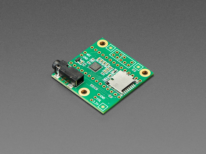 Angled shot of Audio Adapter Board for Teensy 4.x