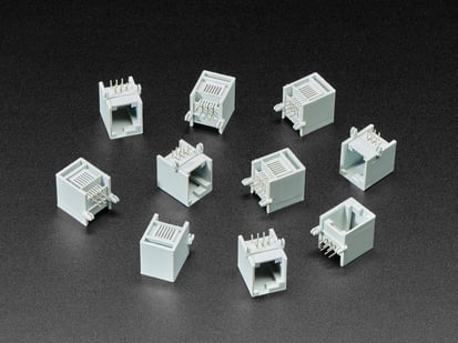 Pack of 10 RJ12 Jack Connectors - EV3/NXT LEGO Compatible