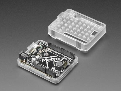 Plastic Translucent Enclosure for Metro or Arduino with Metro installed
