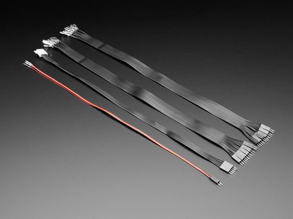 Angled shot of four 35cm long wire pairs.