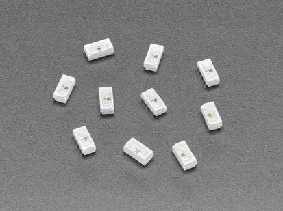 10-pack of NeoPixel Side-Light RGB LED with Integrated Driver Chips