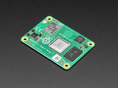 Angle shot of the Raspberry Pi Compute Module 4 with WiFi - 2GB / No MMC