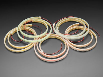 Multiple coils of Flexible LED Strip in Various Colors