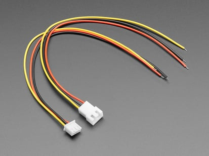 Angled shot of 3-pin cable matching pair.