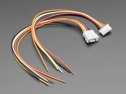 Angled shot of 5-pin cable matching pair.