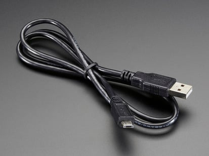 USB cable - USB A to Micro-B - 3 foot long