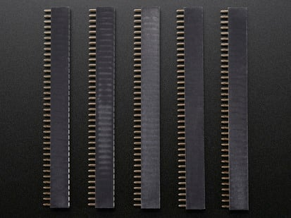pack of five, 36-pin 0.1 inch Female header