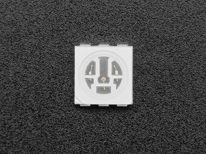 Single square RGB SMT LED, top shot