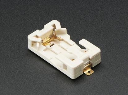 Angled shot of sewable CR2032 battery holder.