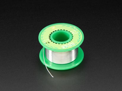 Small spool of solder wire