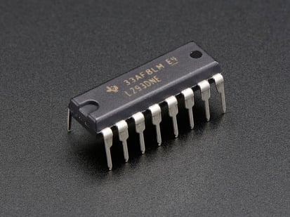L293D Dual H-Bridge Motor Driver for DC or Steppers