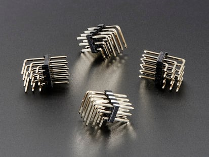 4 pack of 3x4 Right Angle Male Header