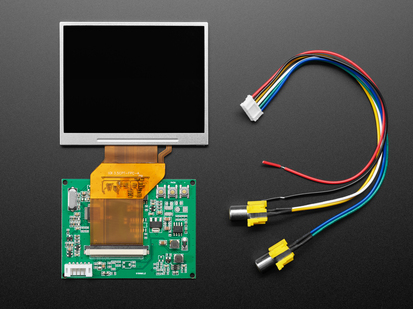 Bare Television TFT Display with Receiver board and RCA connector