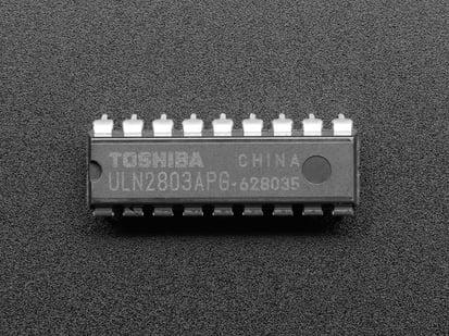 ULN2803 8 Channel Darlington Driver. Solenoid/Unipolar Stepper chip.