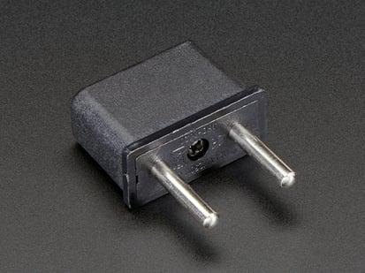 Euro Plug Power Adapter - Round Euro plug