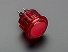 Arcade Button - 30mm Translucent Red
