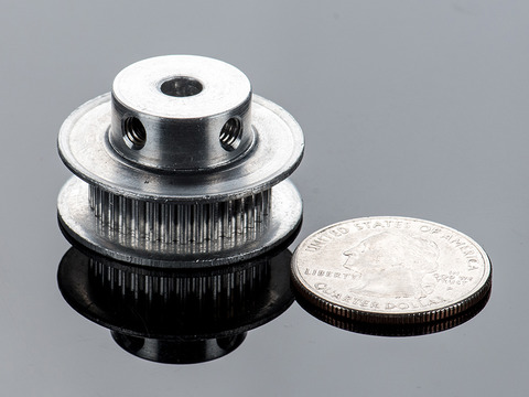 Aluminum GT2 Timing Pulley - 6mm Belt - 36 Tooth - 5mm Bore