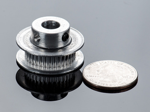Aluminum GT2 Timing Pulley - 6mm Belt - 36 Tooth - 8mm Bore