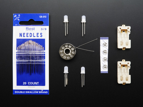 Light Stitches Conductive Thread Kit Blue LEDs