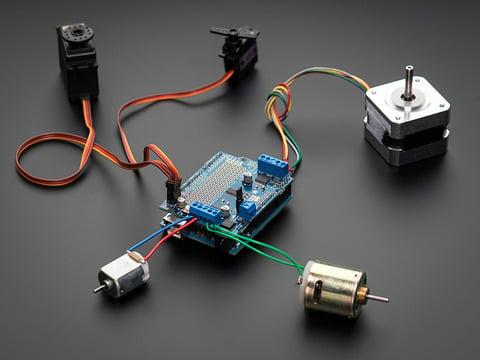 Adafruit Motor/Stepper/Servo Shield for Arduino v2 Kit