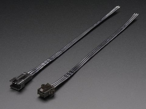 3-pin JST SM Plug + Receptacle Cable Set