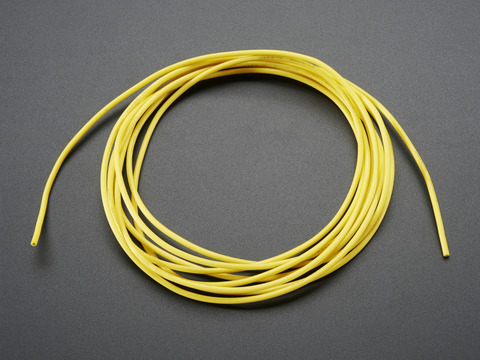Silicone Cover Stranded-Core Wire - 2m 26AWG Yellow