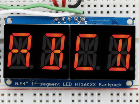 Quad Alphanumeric Display - Red 0.54