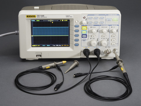 1 GS/s 100MHz Digital Storage Oscilloscope + Extras - DS1102E