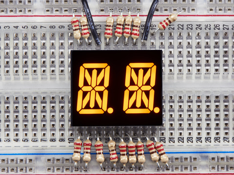 Dual Alphanumeric Display -Yellow 0.54