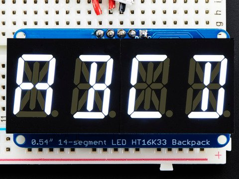 Quad Alphanumeric Display - White 0.54