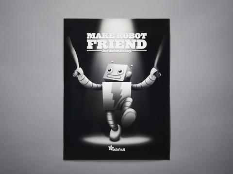 """ADABOT """"Make Robot Friend"""" Poster"""