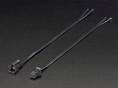 2-pin JST SM Plug + Receptacle Cable Set
