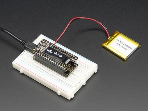 4650 128x64 OLED Add-on für Feather Board STEMMA QT Adafruit FeatherWing OLED