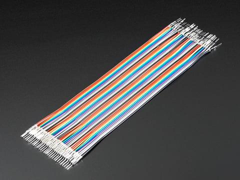 Premium Male/Male Raw Jumper Wires - 40 x 6