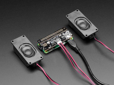 Adafruit I2S 3W Stereo Speaker Bonnet for Raspberry Pi