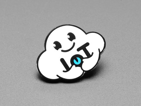 Nimbus the Friendly Cloud Entity - Limited Edition Enamel Pin