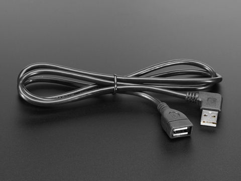 Right Angle Extension USB Cable - A Male to A Female